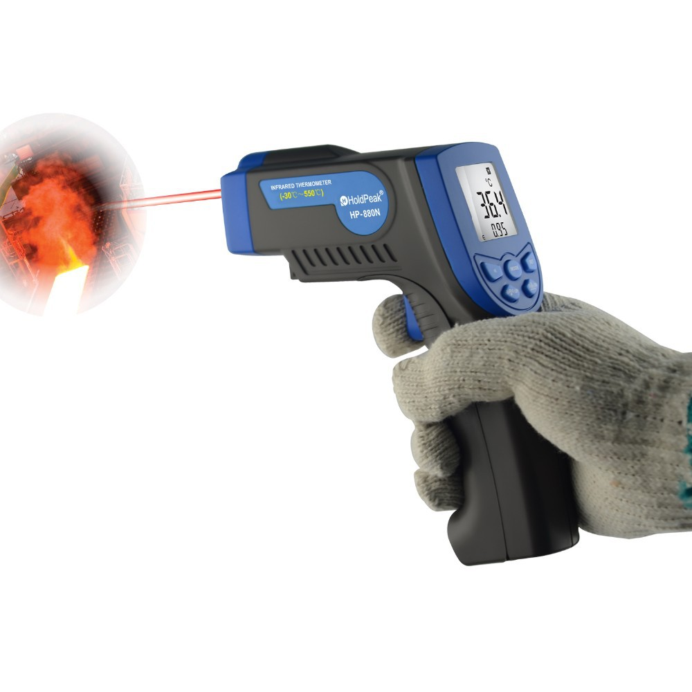 Holdpeak Hp-880n Digital Non Contact Infrared Thermometer Las