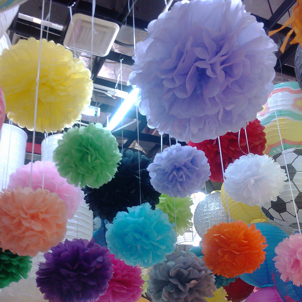 Tissue Paper Flower 20pcs 4inch 10cm Balls Pompoms Wedding Party