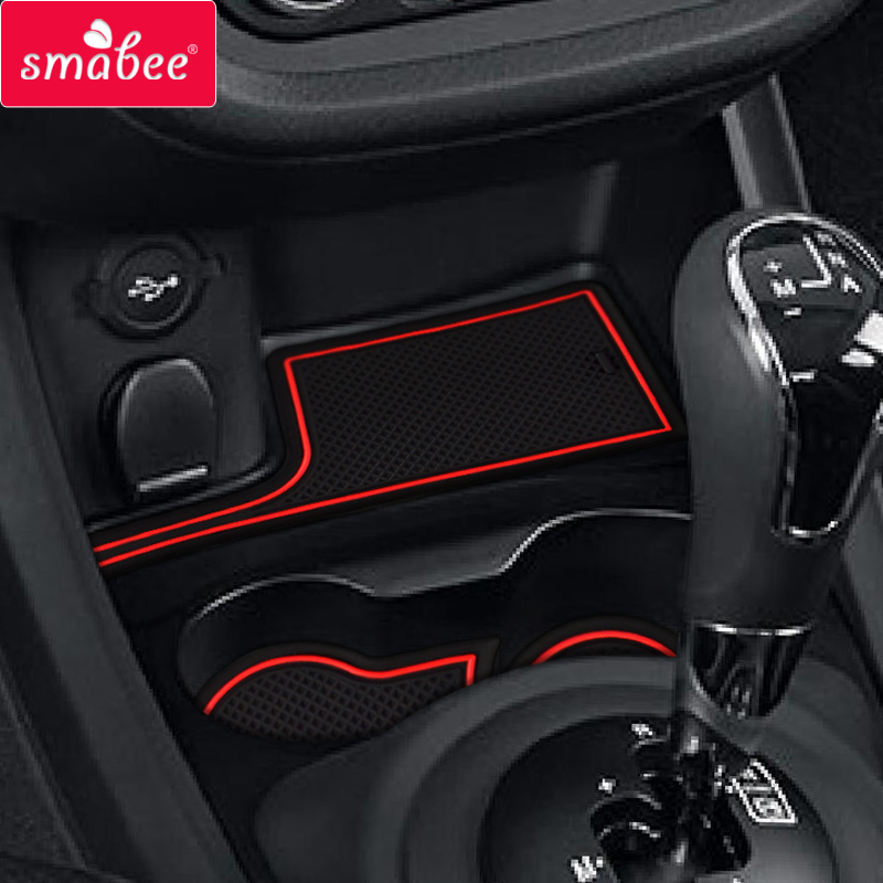 smabee Gate slot pad for LADA vesta Non-slip Interior Door Pad Cup  VESTA MAT 6pcs pvc red blue white black