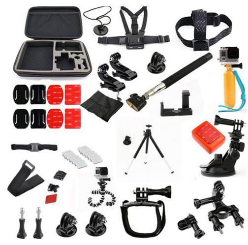 ФОТО GoPro accessories 36 in 1 Family Kit Go Pro accessories set GoPro accessories package for GoPro HD Hero 4 3+ 3 2 Free Shipping