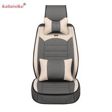 Kalaisike Flachs Universal Auto sitzbezüge für Nissan alle modelle qashqai x trail tiida Hinweis Murano März Teana autos styling