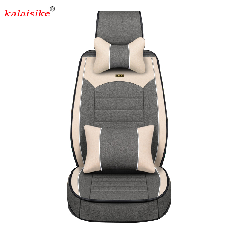 цена Kalaisike Flax Universal Car Seat covers for Nissan all models qashqai x-trail tiida Note Murano March Teana automobiles styling