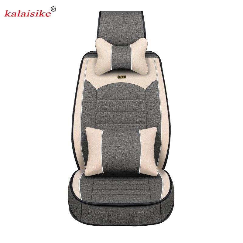 Kalaisike Linho tampas de Assento Do Carro Universal para todos os modelos da Nissan Teana qashqai x-trail tiida Nota Murano Março automóveis styling