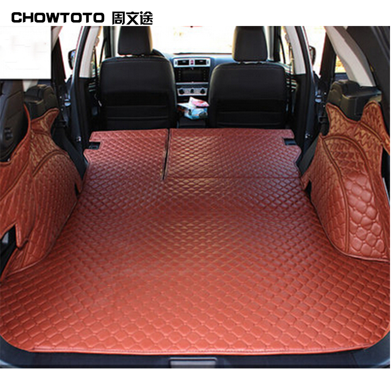 CHOWTOTO AA Custom Special Trunk Mats For Subaru Outback Easy To Clean Waterproof Boot Carpets For Outback Lagguge Pad