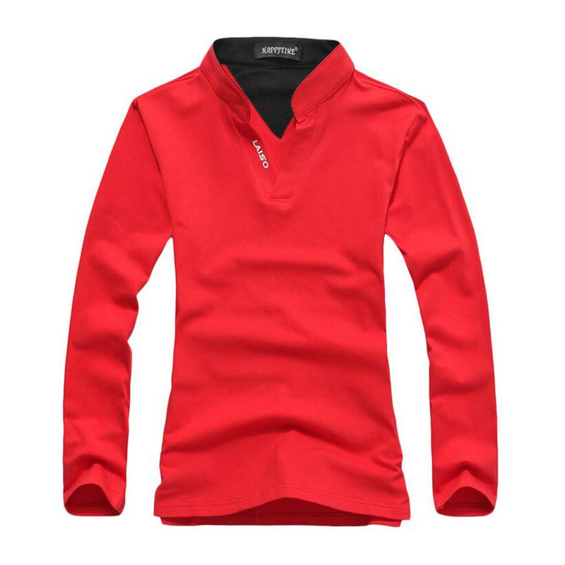 2019 Brand New Fashion Men Clothes Solid Long Sleeve Slim Fit   T     Shirts   Men Cotton   T  -  Shirt   Casual Tshirt Homme Clothing