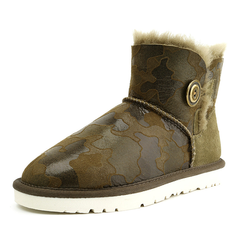 High Quality Women's Australia Classic Sheepskin Leather Snow Boots Winter Shoes With Rubber Sole For Women Free Shipping