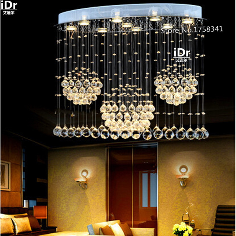 Modern LED oval chandelier lamps crystal lamps restaurant lights hanging wire lamps living room lightsModern LED oval chandelier lamps crystal lamps restaurant lights hanging wire lamps living room lights