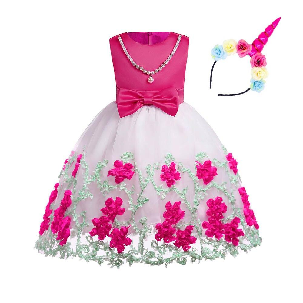 Multicolor nieuwe zomer gestreepte jurk voor meisjes trouwjurk fancy - Kinderkleding - Foto 5