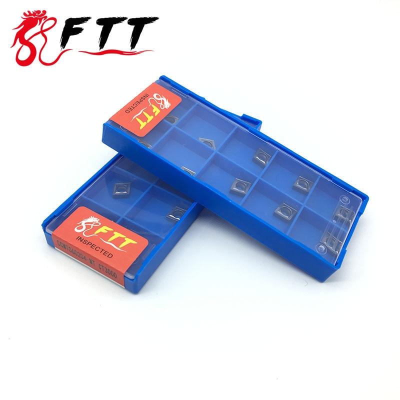 10PCS CCMT060204 MT CT3000 inserti in metallo duro di grado Cermet - Macchine utensili e accessori - Fotografia 2