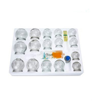 12 pieces to thicken the cups Vacuum cupping, Explosion proof cupping glass Household cupping massage therapy