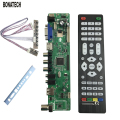free shipping V56 Universal LCD TV Controller Driver Board PC/VGA/HDMI/USB Interface+7 key board+baffle