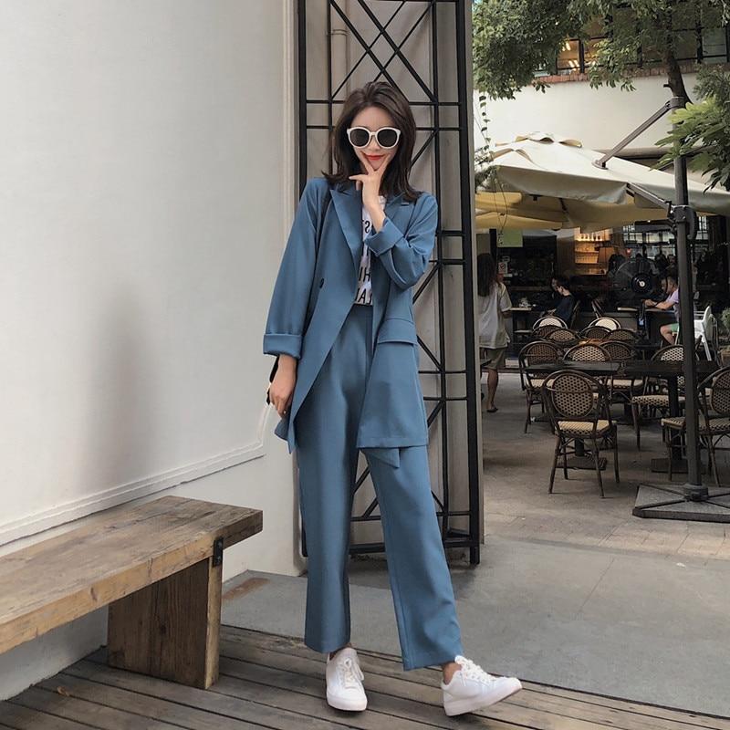 La Femme Suit Pantalon piece D'affaires New Photo Et veste Femmes Color Intellectuelle Mode Deux Capable De Hot Costume 8ZZ6xYqwA