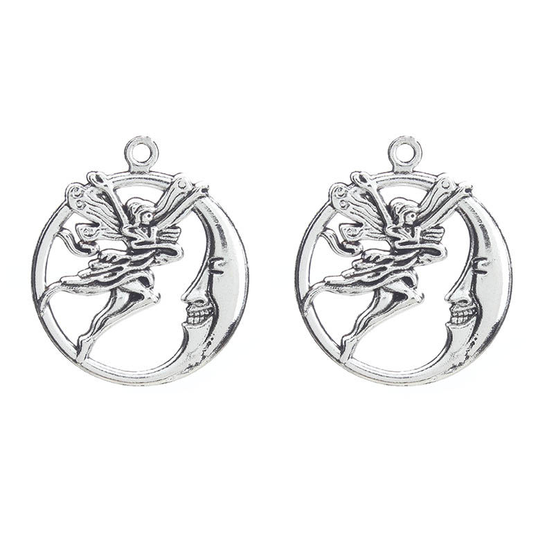 Aliexpress.com : Buy 10pcs Moon Angel Charms Antique