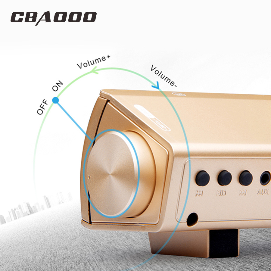 Cbaooo S08 Computer Bluetooth Speaker 12w Wireless Amplifier Circuit Diagram And Description Of Hifi Amplifierhifi 3d Stereo Sound Bar With Mic Usb Tv Fone De Ouvido In Subwoofer From Consumer