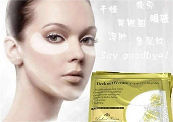 New 2015 Hot selling Crystal Collagen Eye Mask Anti-Wrinkle face Skin Care Eyelid Patch Eye Mask free shipping 60pair/lot