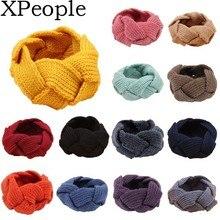 XPeople Winter Wool Twist Headband Knit Crochet Ear Warmers for Women Hair Band Ear Muffs christmas hemp flowers crochet knit arm warmers
