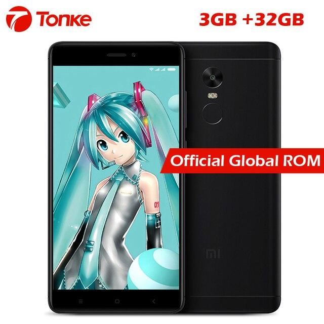 Original Xiaomi Redmi Note 4X mobile phone Snapdragon 625 Octa Core 3GB RAM 32GB ROM 13.0MP camera Metal Body Fingerprint