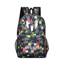 Schultasche für Teenager Junge Rucksack Messi Rucksack Männlichen Teen Black Footbal Buch Tasche Männer Rucksack Geschenk Kinder Bagpack
