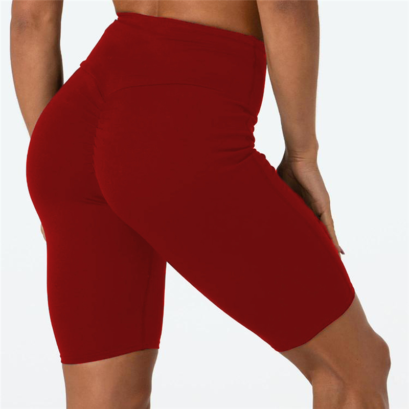 New Women's Sport Fitness   Shorts   High Waist Bike Cycle   Shorts   Ladies Soft Stretch   Shorts   Casual Workout Wear Summer