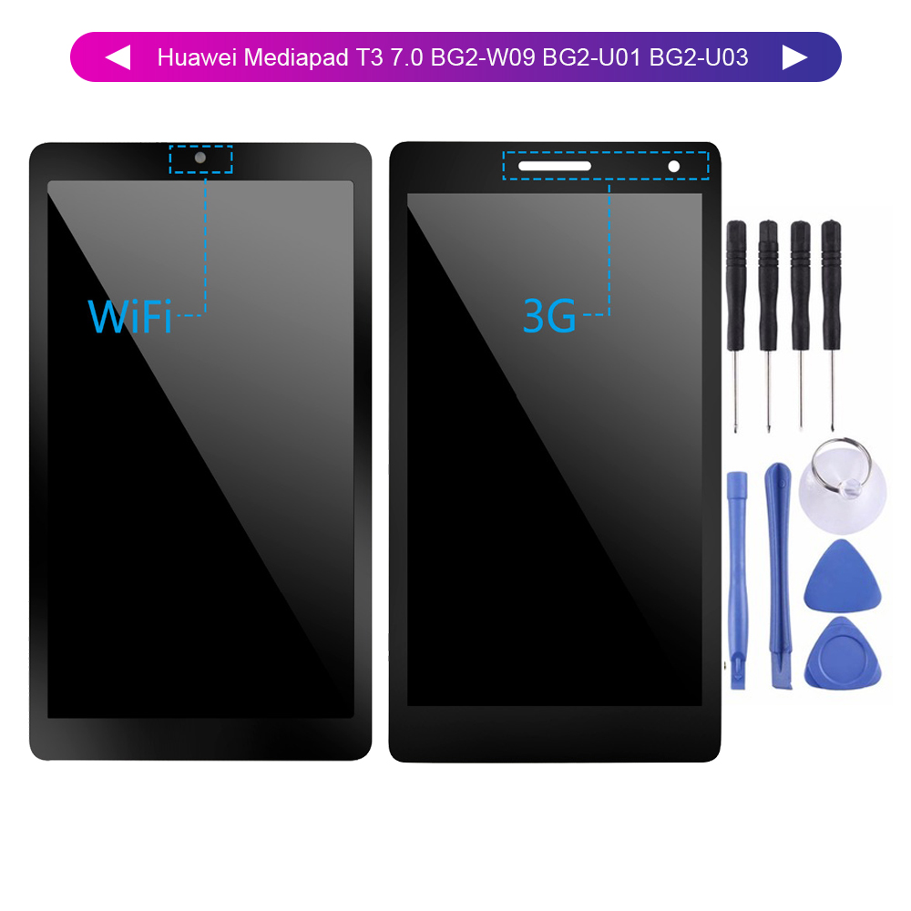 100% Tested For Huawei Mediapad T3 7.0 BG2-W09 BG2-U01 BG2-U03 Lcd display Touch Screen Digitizer assembly For Huawei T3 LCD