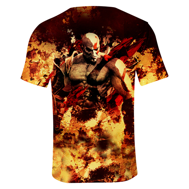 God Of War 3D Design T-Shirt Men Women O-Neck Summer Tshirt Hot Game T Shirts Tops Camisetas Clothing 3