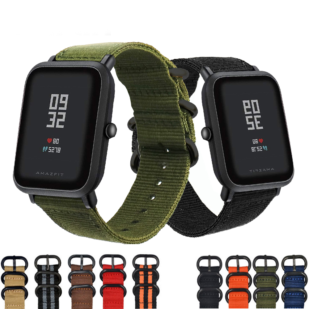 Eastar Hot Sell Nylon Strap for Xiaomi huami Amazfit Smart Watch Youth Edition Bip BIT PACE Lite band strap fitness bracelet 3in1 metal strap double color band for original xiaomi huami amazfit bip bit pace lite youth smart watch screen protector film