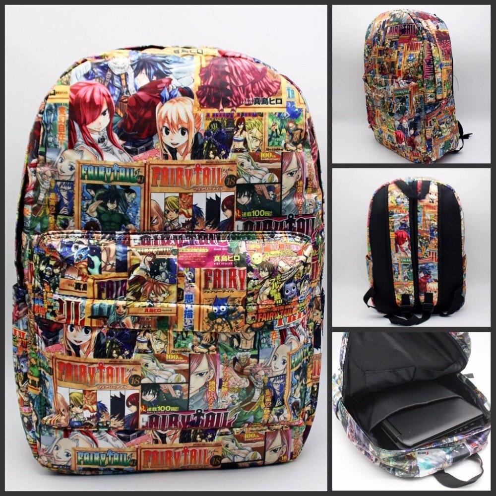 Japan anime Fairy Tail Backpack print men women bag School Bag Travel bag