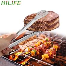 HILIFE инструменты для приготовления пищи зажимы для барбекю из нержавеющей стали кухонные инструменты Гаджеты хлеб салат мясо Клип Анти-тепло барбекю, шведский стол щипцы