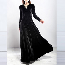 Winter Elegant Dress – Casual Long Sleeve Ball Gown Dress Vintage
