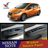 Car Interior Decorative Accessories For Nissan Note E12 E power Right Drive Inner Window Switch Cover Piano Black ABS 4Pcs