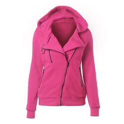 LITTHING Spring Zipper Warm Fashion Hoodies Women Long Sleeve Hoodies Jackets Hoody Jumper Overcoat Outwear Female Sweatshirts 4