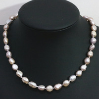 Special High Quality Natural Purple Freshwater Pearl Necklace 9 11mm Irregular Beads Charms Elegant Jewelry B1432