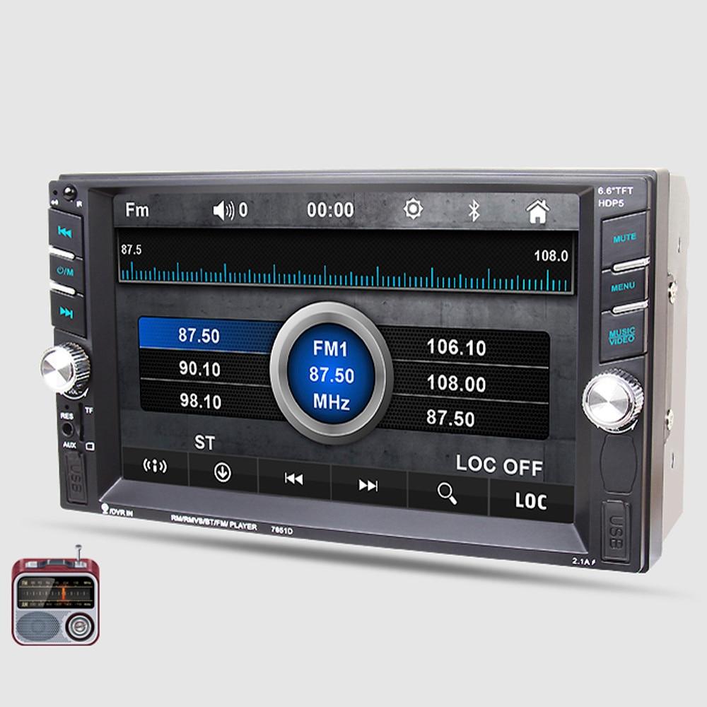 6.6 Bluetooth Автомобильный стерео аудио в приборную панель AUX вход ресивер с SD/USB с mp5-плеер мода 17Sept6