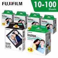 Originale Fujifilm Instax Piazza Istantaneo bianco bordo Pellicola 10 a 100 Lenzuola per Fuji SQ10 6 20 SP2 Ibrido formato telecamere