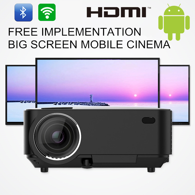 Cheap digital projectors android 4.4 wifi bluetooth video wireless projector 1500 lumens...