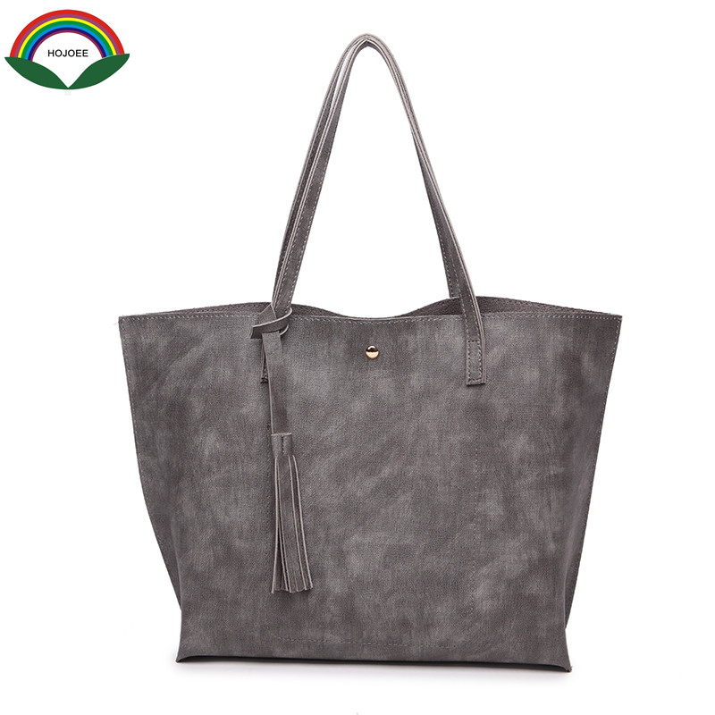 HOJOEE Fashion 100% Real PU Leather OL Style Women Handbag Tote Bag Ladies Shoulder Bags Bolsa Feminina Handbag Brand Designer fashion 100% real genuine leather ol style women handbag tote bag ladies shoulder bags wholesale price xp384