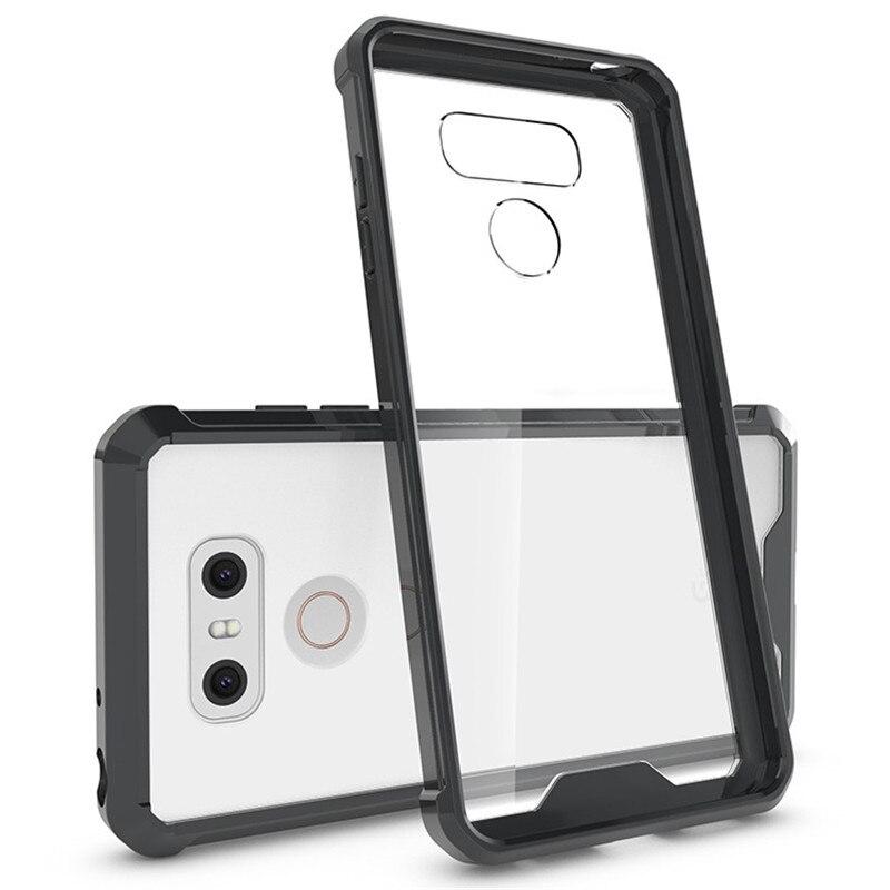 E համար LG G6 Case Crystal Hybrid Bumper Clear TPU PC - Բջջային հեռախոսի պարագաներ և պահեստամասեր - Լուսանկար 2