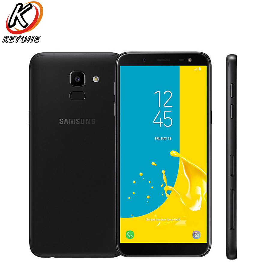 "Brand New Samsung Galaxy J6 J600G-DS 4G LTE Mobile Phone 5.6"" 4GB RAM 64GB ROM Dual SIM 3000mAh Fingerprint Android Smart Phone"