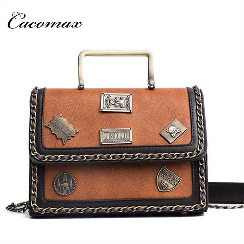 2018 new Korean version of the badge shoulder bag shoulder bag simple and stylish hand-held diagonal small square package retro small square korean version of the printing bag graffiti shape shoulder mini oblique cross female package