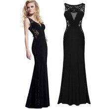 black lace dress estidos mujer 2015 lady sexy party evening elegant  dresses floor length sleeveless maxi  free ship