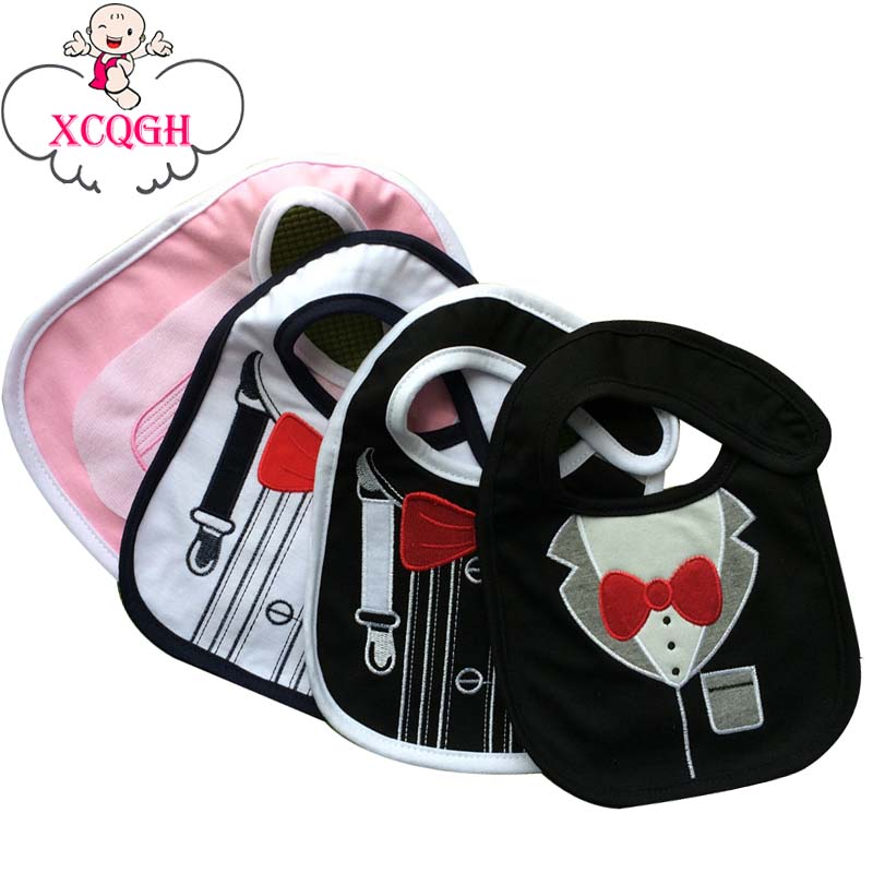 XCQGH Collar Baby Boy Bibs Cotton Infant Newborn Girl Feeding Apron Smock Cute Pattern Bandana Bib Scarf Towel(China)