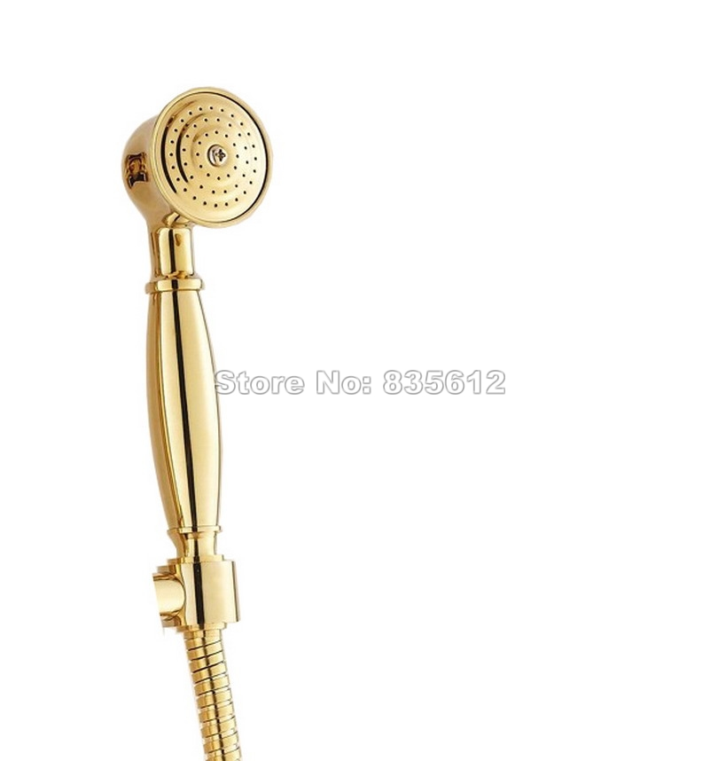 Polished Gold Color Brass Telephone Style Hand Held Bathroom ...