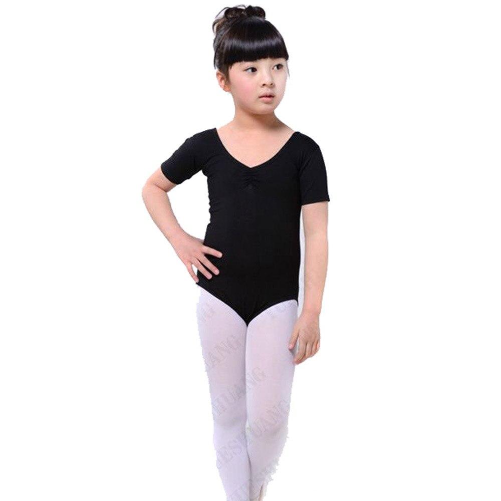 Enfants Filles Ballet De Danse Costumes Coton Gymnastique De Patinage  Vêtements Justaucorps 02471feddcc