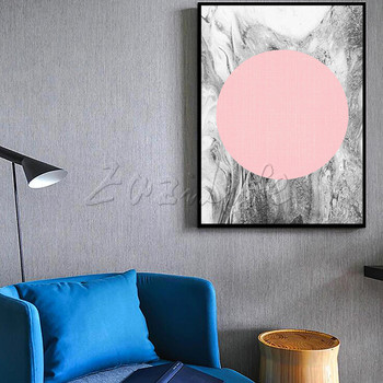 Poster and print geometry dot,Nordic modern abstract watercolor on canvas ,wall pictures for living room home decor ,cuadros
