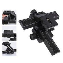 4 пути фокусировки рельс слайдер кронштейн для DSLR камеры Макро фокус фотографии для Canon Nikon sony(черный