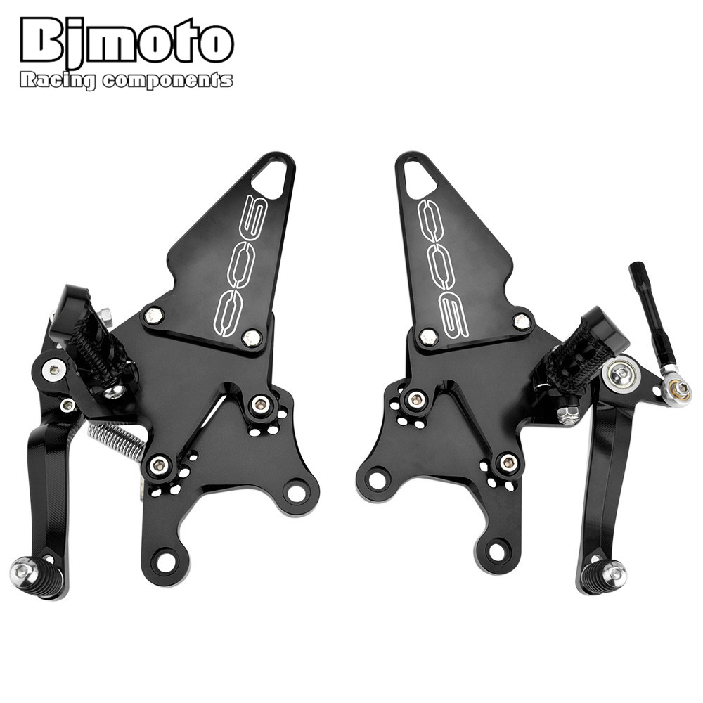 Bjmoto 4colors Aluminum Motorcycle Foot Rests Rear Set Adjustable Foot Pegs Rearset For Kawasaki Z900 2017 2018 Motocross Z900 motorcycle fz1 fz8 adjustable rearset rear set foot rests foot pegs for yamaha fz1 2006 2014 and fz8 2010 2011 2012 2013 new