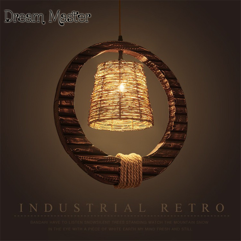 American retro industrial wind rope rattan art personality chandelier Cafe Restaurant Bar creative country Chandelier industry retro originality rope chandelier american clothing store bar cafe personality art decoration chandelier free shipping