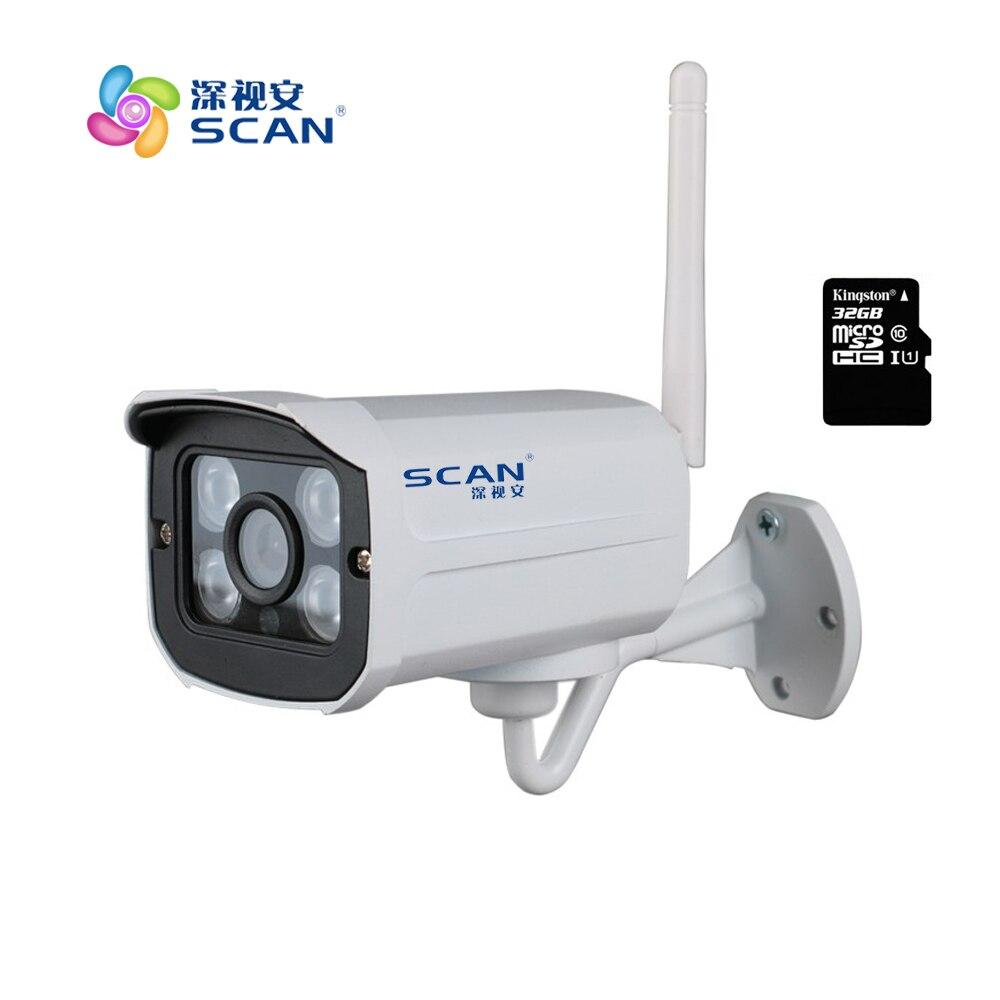 HD 1080 P пуля белый ip-камеры, Wi-Fi 2mp беспроводной seurveillance безопасности мини веб-камера cmos инфракрасного ночного видения Бесплатная доставка Лид...