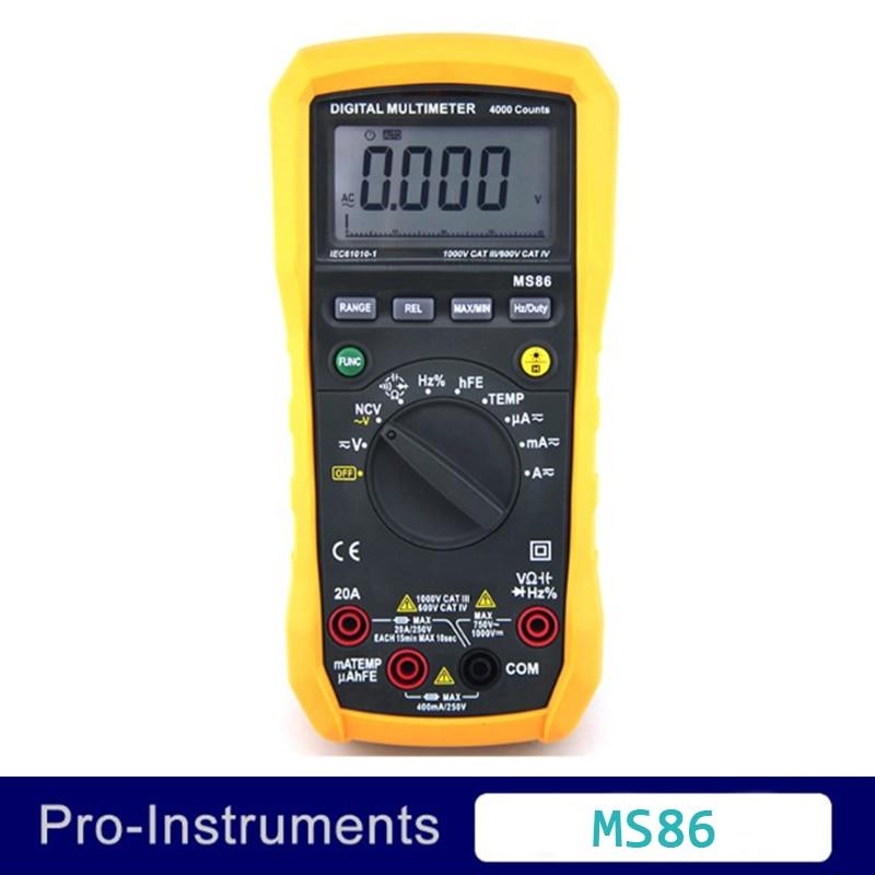 MS86 Multifunction Digital Multimeter/Auto and Manual Range/Temperature Test/Relative Ammeter Multitester digital multimeter victor vc 6056d3 4 auto range temperature test streamline design