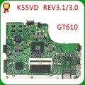 Placa Base KEFU K55VD Para K55VD A55V K55A REV3.0 GT610 Para Placa Madre De Prueba No Integrada ASUS K55VD A55V
